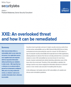 XXE An overlooked threat WhitePaper