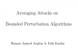 Averaging Attacks on Bounded Perturbation Algorithms