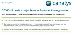 COVID-19 deals a major blow to Asia's technology sector