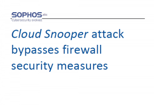 Cloud Snooper attack bypasses firewall security measures