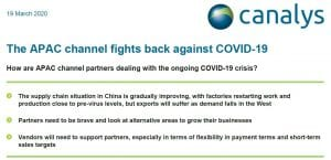 The APAC channel fights back against COVID-19