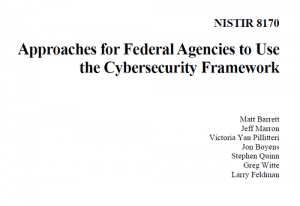 Approaches for Federal Agencies to Use the Cybersecurity Framework