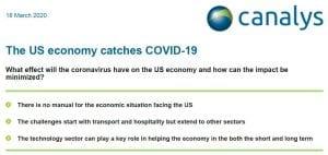 The US economy catches COVID-19