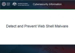 Detect and Prevent Web Shell Malware