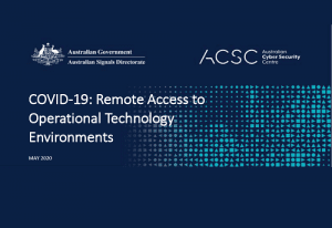 COVID-19: Remote Access to Operational Technology Environments