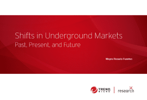 Shifts in Underground Markets: Past, Present, and Future