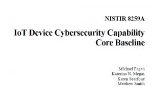 IoT Device Cybersecurity Capability Core Baseline