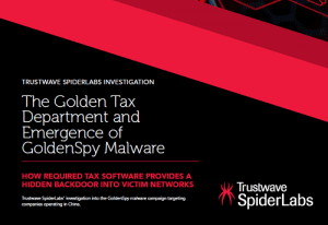 The Golden Tax Department and Emergence of GoldenSpy Malware