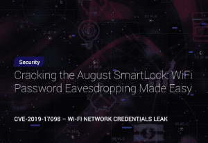 Cracking the August SmartLock: WiFi Password Eavesdropping Made Easy