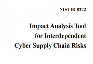 Impact Analysis Tool for Interdependent Cyber Supply Chain Risks