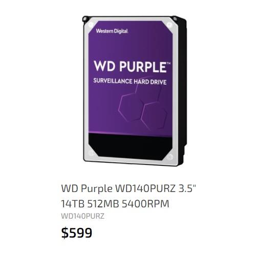 WD 14TB 512MB