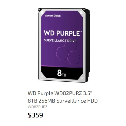 WD 8TB 256MB