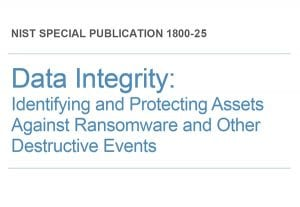 Data Integrity: Identifying and Protecting Assets Against Ransomware and Other Destructive Events