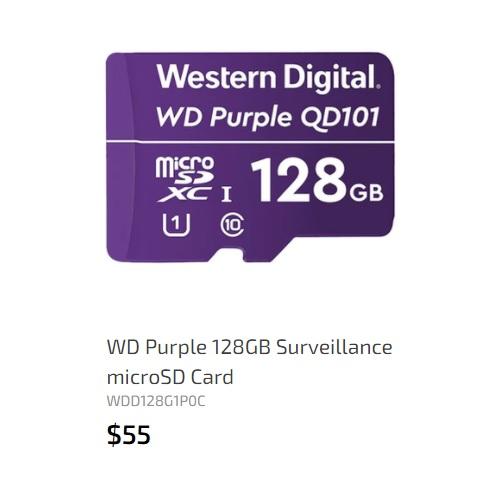 WD microSD card 128GB