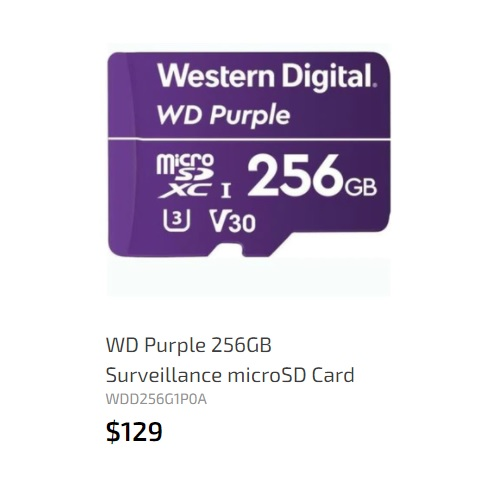 WD microSD card 256GB rev.1