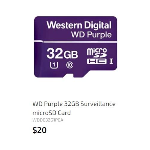 WD microSD card 32GB