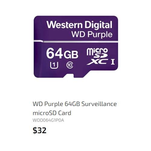 WD microSD card 64GB